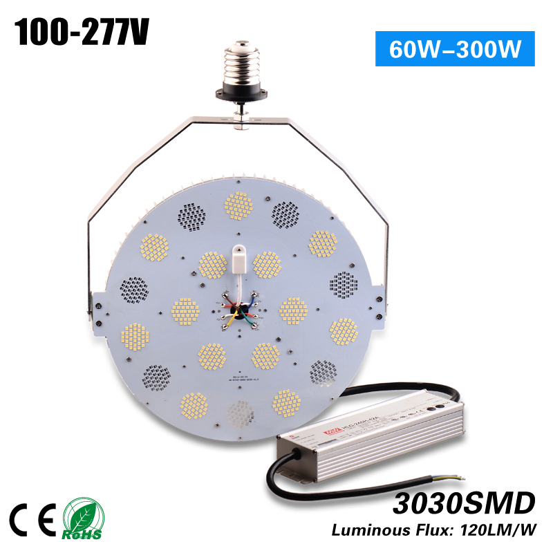 Free Shipping 240w Retrofit Kit for gas station canopy lamp indside bulb 700w HPS MH HID replacement 5 years warranty 1000led led gas station light 150w 16 000 lumen 500w 650w hid hps equal daylight 5 000 kevin ac100 277v waterproof ip65 canopy
