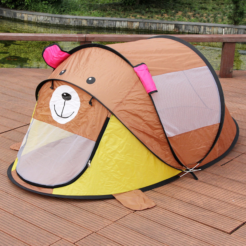 140*135*cm Children Outdoor Bear Tent Beach Tent Baby Play Game House Kids Princess Prince Castle Indoor Outdoor Child Toys Tent