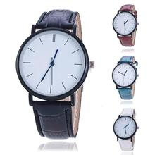 1pc fashion casual slim clear woman lady watches wrist clocks gift Quartz Wristwatches PU leather wild round analog glass H1