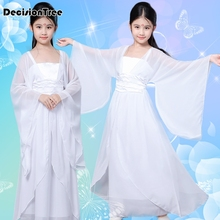 2019 new traditional chinese dance costumes for girls ming opera children ancient fairy han tang dynasty qing hanfu dress child