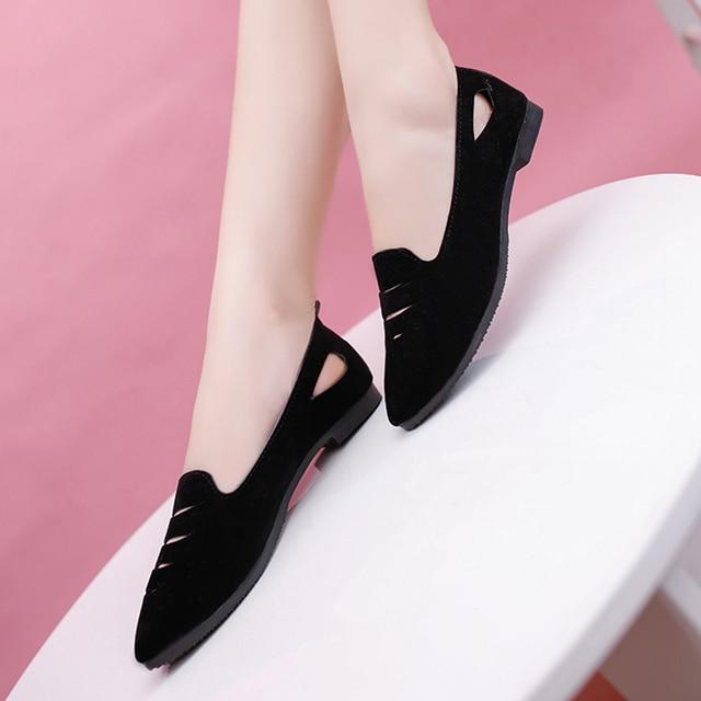 6f2a9e8a2 Обувь больших размеров 35–42 9 модная летняя женская обувь без шнуровки  лоферы с острым