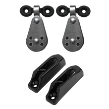 Kayak Canoe Anchor Trolley Kit 2 Stainless Steel Pulleys Nylon Pad Eyes Cord Runners For Boat Accessories