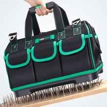 AIRAJ 13/16/18/20 дюймов новый инструмент сумка, большой Ёмкость Водонепроницаемый сумка для электрика Пластик дно Для мужчин; скошенная сумка инструмент