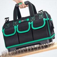 AIRAJ 13/16/18/20 pulgadas nueva bolsa de herramientas, de gran capacidad impermeable electricista bolsa de plástico de la parte inferior de los hombres oblicuo bolsa herramienta