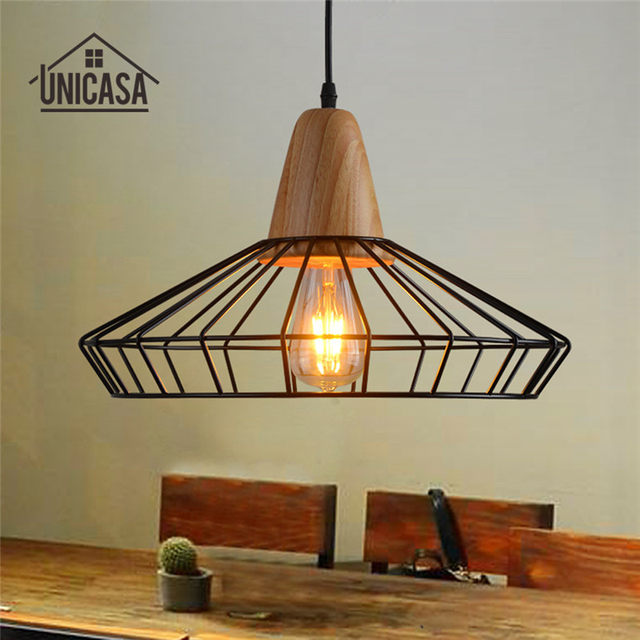 Tienda Online Forjado industrial Iluminación lámparas vintage madera ...
