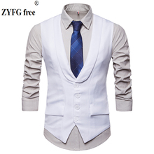 ZYFG Free 2018 New Arrival Dress Vests Men Slim Fit Mens Suit Vest Male Waistcoat Gilet Homme Casual Sleeveless Formal Business