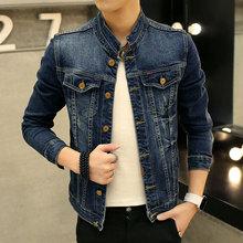 TIGER KNIFE 2017 New Arrival Men Denim Elastic Jacket Scratched Hole Designs Jeans Coats Male Classic Slim Fit Mens Jackets Tops