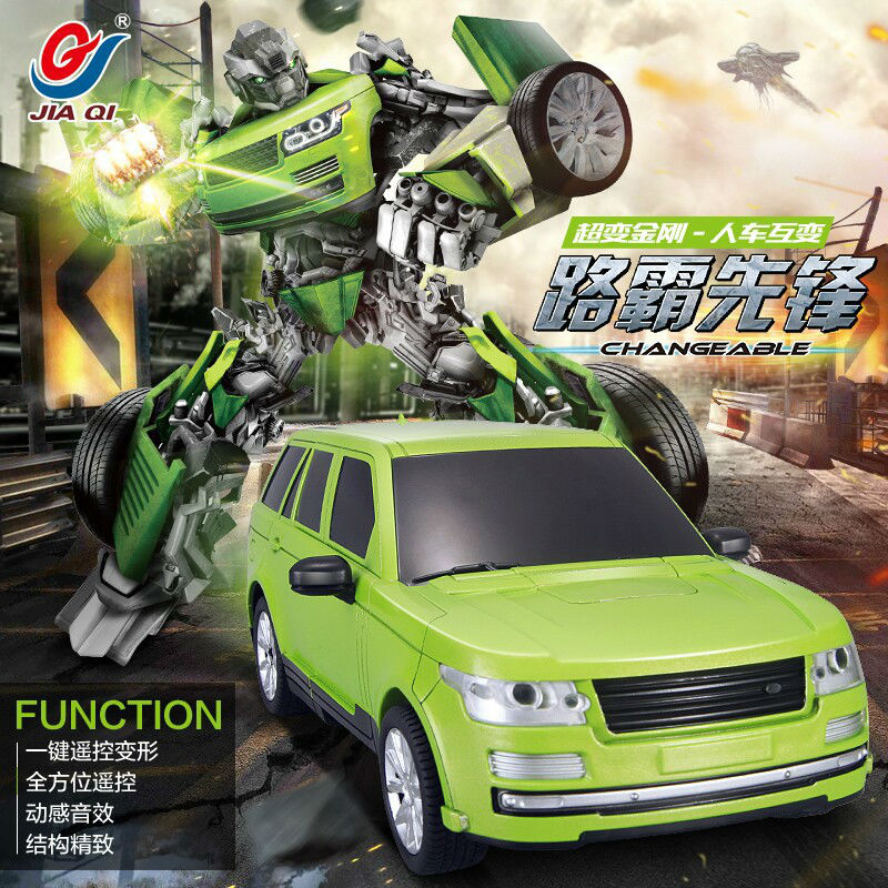The best kids toys JIA QI TT651 Transformer truck Optimus Prime robot rc truck R/C truck RC robot Car rc Transformation gift