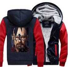I Am The One Who Knocks Breaking Bad Heisenberg Hip Hop Hoodies Men 2019 Winter Warm Fleece Sweatshirts Mens Thicken Coat M-5XL
