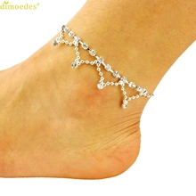 Diomedes Newest New Summer Princess In The Snow Style Crystal Tassel Anklets Diomedes Girls Elegant Foot Jewelry Anklet