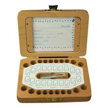 Зубной домик для детей, маленьких девочек и мальчиков, коробка с лиственными зубами, деревянная рамка для хранения волос для новорожденных, памятные коробки для хранения волос