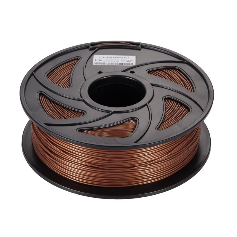 20% metal + 80% pla filamento da impressora 3d do metal pla filamento 1.75mm bronze alumínio cobre impressão 3d filamentos
