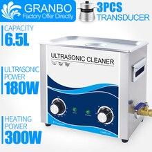 Granbo 6 Litre Ultrasonik Temizleyici 180 W Banyo Mekanik Isıtıcı Zamanlayıcı Temizleme Makinesi PCB Mermi Bebek Oyuncak Araba Zincirleri Donanım