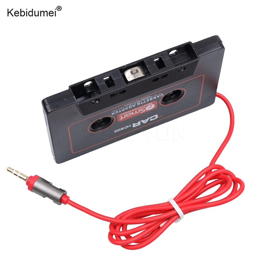 Kebidumei кассеты автомобиля Клейкие ленты адаптер кассеты MP3 плеер конвертер для Ipod для iPhone MP3 Aux кабель CD-плееры 3.5 мм Jack разъем