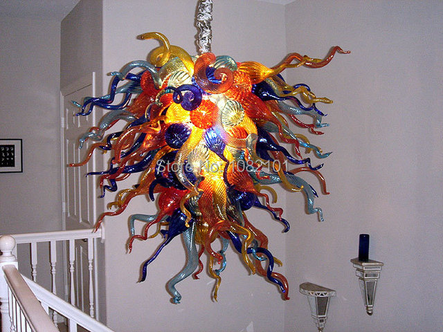 Free shipping pretty art decoration multi colored glass chandelier free shipping pretty art decoration multi colored glass chandelier aloadofball Image collections
