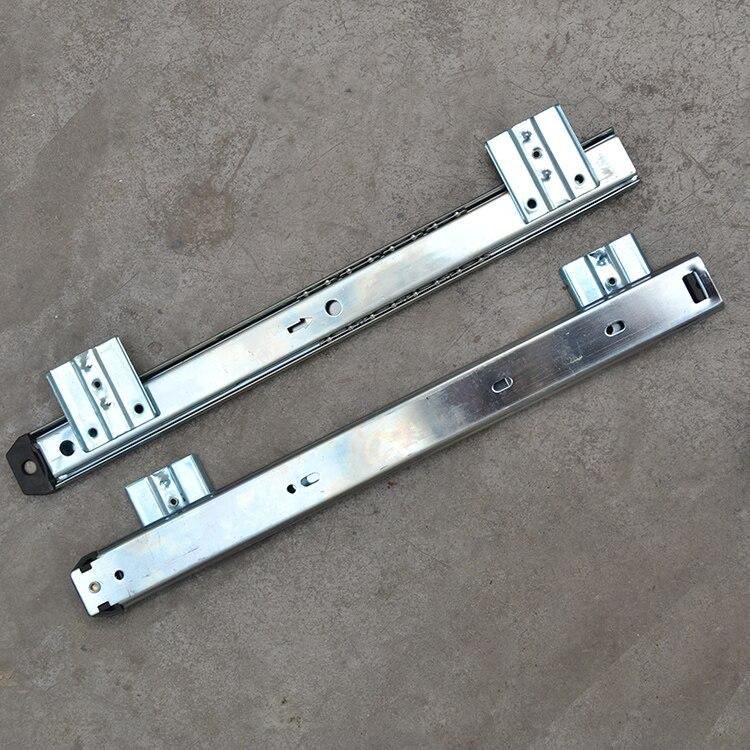 Livraison gratuite diapositives en sourdine meubles matériel tiroir rail ordinateur bureau glissière clavier tiroir piste boule levage support inférieur