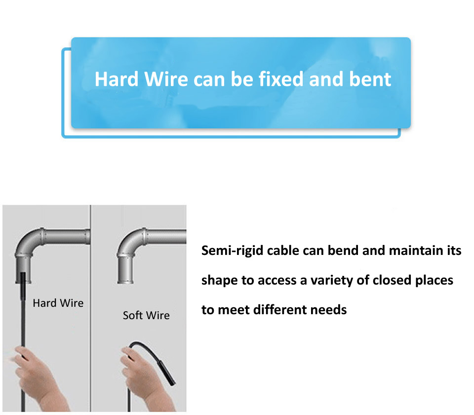 Endoscope Camera 7MM 3 in 1 USB Mini Camcorders IP67 Waterproof 6 LED Borescope Inspection Camera For Windows Macbook PC Android