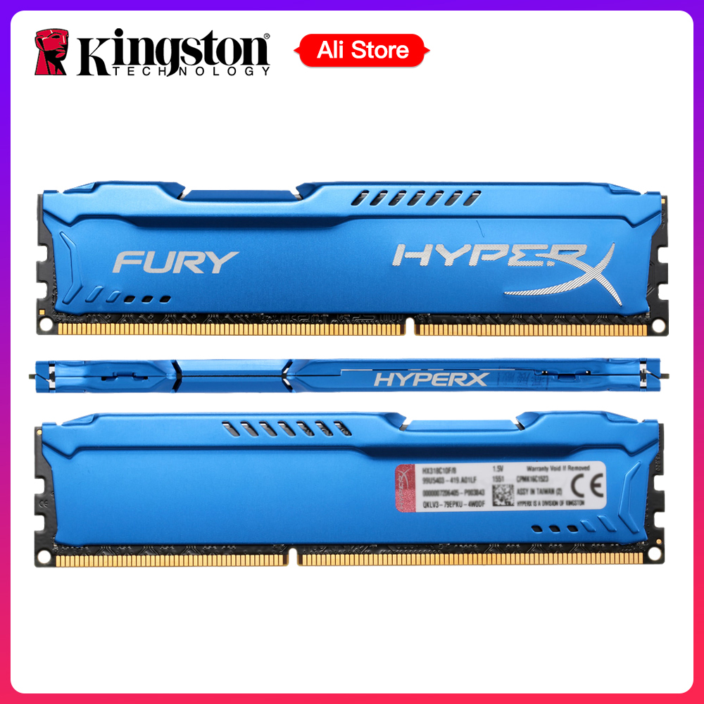 Kingston HyperX FURY Ram DDR3 Memori 4GB 8GB 1866 MHz DIMM RAM 1.5V 240-Pin RAM RAM Intel Memory Ram Untuk Desktop PC Gaming Laptop