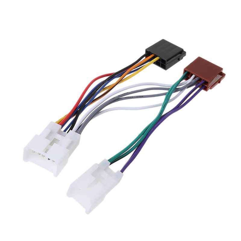 ISO Car Radio Wiring Harness Adapter Plug Cable For TOYOTA Lexus MR2 Land Cruiser RAV4 Solara Yaris