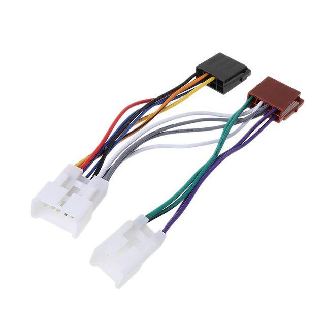 iso car radio wiring harness adapter plug cable for toyota lexus mr2 land  cruiser rav4 solara