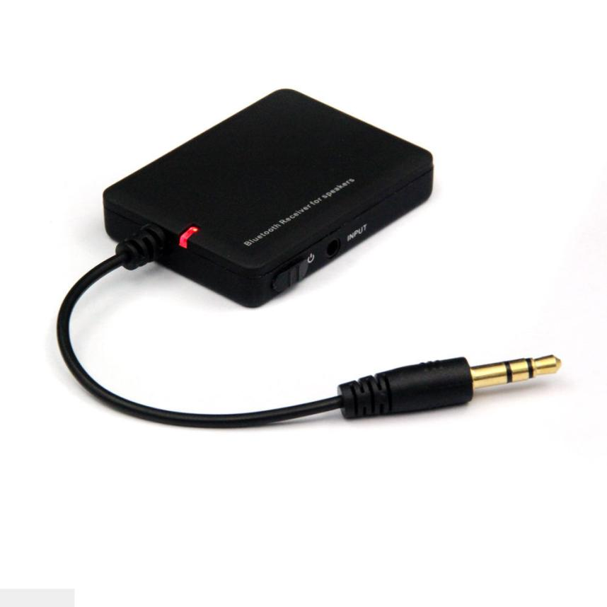 Портативный Беспроводной Bluetooth 4.0 стерео аудио music-receiver Black 3.5 мм Автомобильный адаптер AUX A2DP с зарядка через USB кабель AUG31