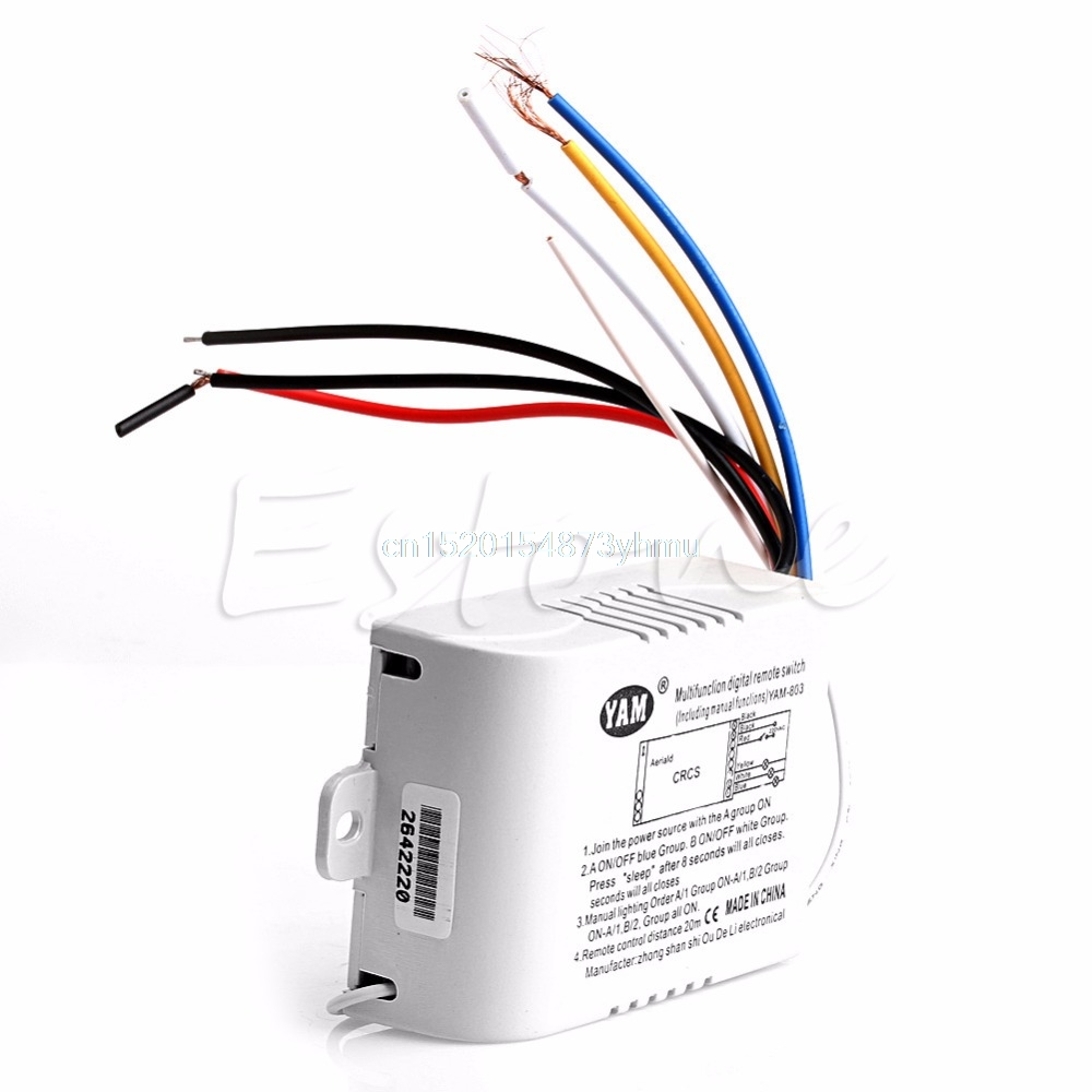 220V one Way Wireless ON OFF Lamp Remote Control Switch Receiver Transmitter L057 new hot
