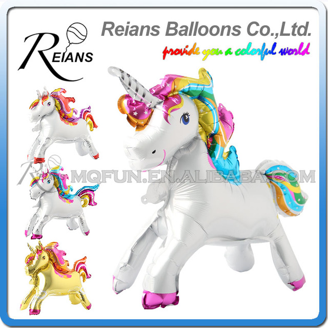 Unique Stand steadily Unicorn Birthday Party Decorations Supplies Wedding Engagement Children's Day Foil Unicorn Balloons globos