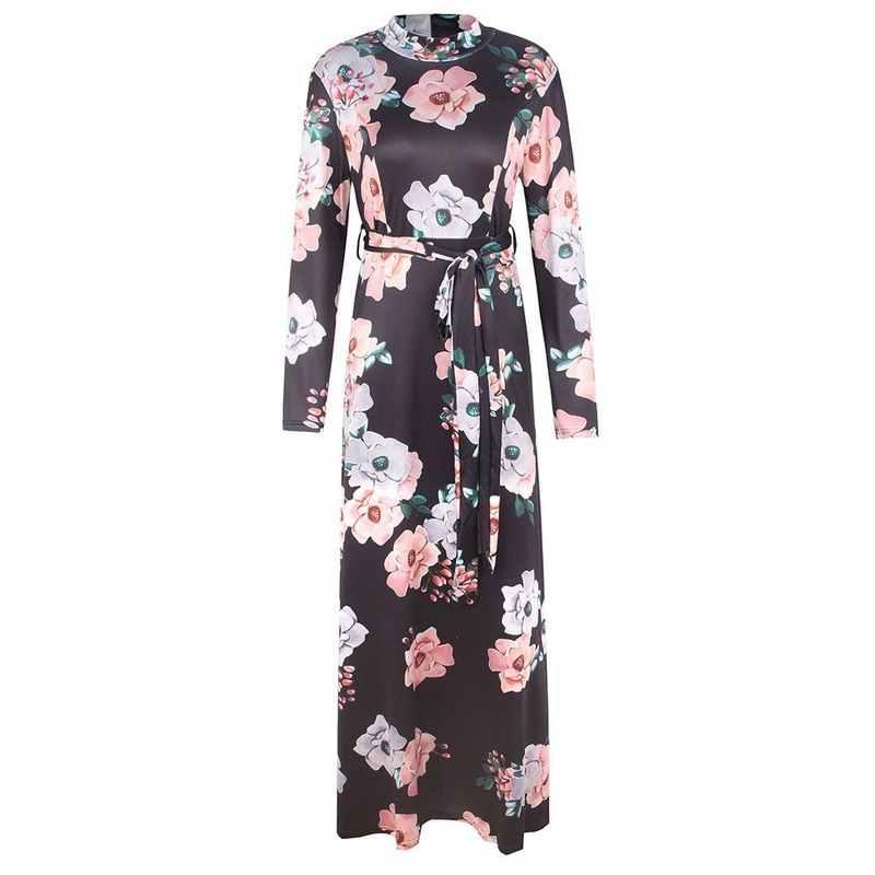 3883672ea1c8 ... LASPERAL 2019 Long Dress Floral Print Boho Beach Dress Tunic Maxi Dress  Women Evening Party Dress ...