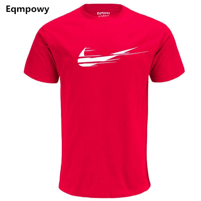 2018 Nya märkesvaror T-shirts Sommarutskick Logo 100% bomulls - Herrkläder - Foto 2