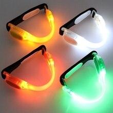 Для ночного катания, бега светодиодная повязка свет безопасности предупреждающий светоотражающий ремень безопасности ремень светоотражающий пояс