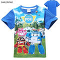 POLI ROBOCAR children kids boys girls t shirt cotton baby boys girls shirts for summer kids baby tees wear Clothing SAILEROAD