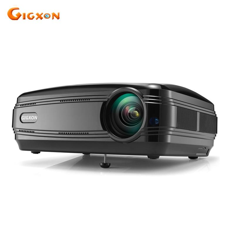 Gigxon G58 Full HD 3200 люмен small Office Совета Бизнес встречи использовать 1080 P ЖК-дисплей светодиодный проектор для домашнего Театр проектор проектор ...