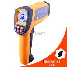 Promo offer Handheld  50:1 Digital IR Non-Contact Laser Thermometer 0.1~1 EM Pyrometer Automotive Construction Industrial Tool Tester