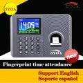 Biometric Fingerprint Time Attendance Clock Recorder Employee Digital Electronic English Spanish Reader Machine