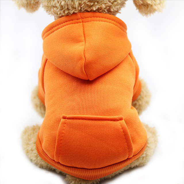 Warm Dog Clothes Pet Dog Coat Jacket for Small Dogs Chihuahua Clothes Solid Hoodies Autumn Puppy Outfits Dogs Clothing 6C4 1