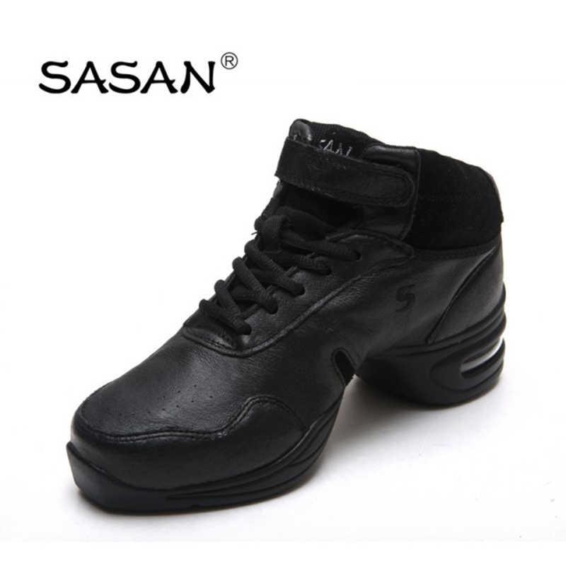 ساسان أحذية لينة أسفل أحذية الجاز أحذية الرقص مربع المرأة الجديدة لربيع وصيف الأحذية الحديثة مقاومة للاهتراء المطاط وحيد الرجال 8837