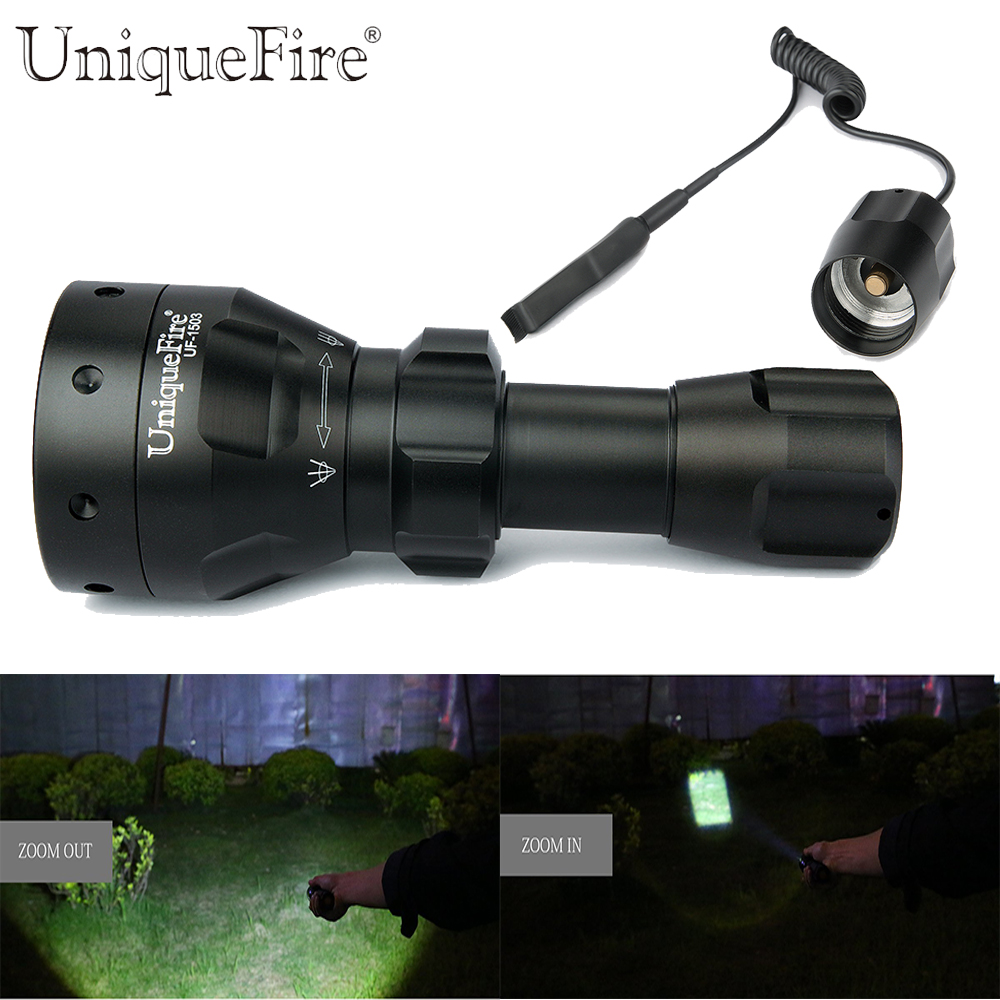 Led Flashlights Uniquefire 1503 3 Modes Xp-e Led 50mm Aspheric Zoomable Lens High Power Led Torch Waterproof
