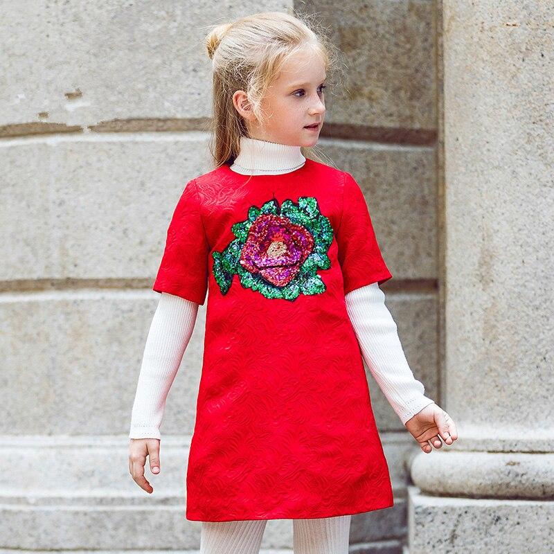 Girls Dresses for Party and Wedding 2017 Brand Summer Dress Princess Costume Rose Bianco Vestido Menina Kids Dress for Girls 1