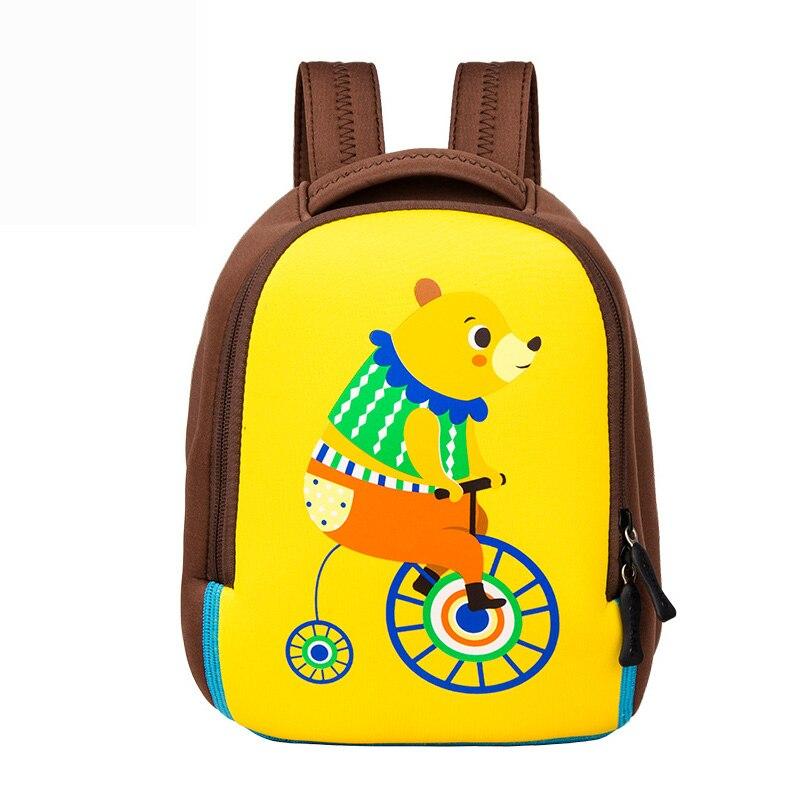 2fb9a109ebce Милый мультфильм Медведи с принтом школьная сумка для девочек цирковых  животных Дизайн кролик малышей детский сад рюкзак дышащая От 1 до 3 л.