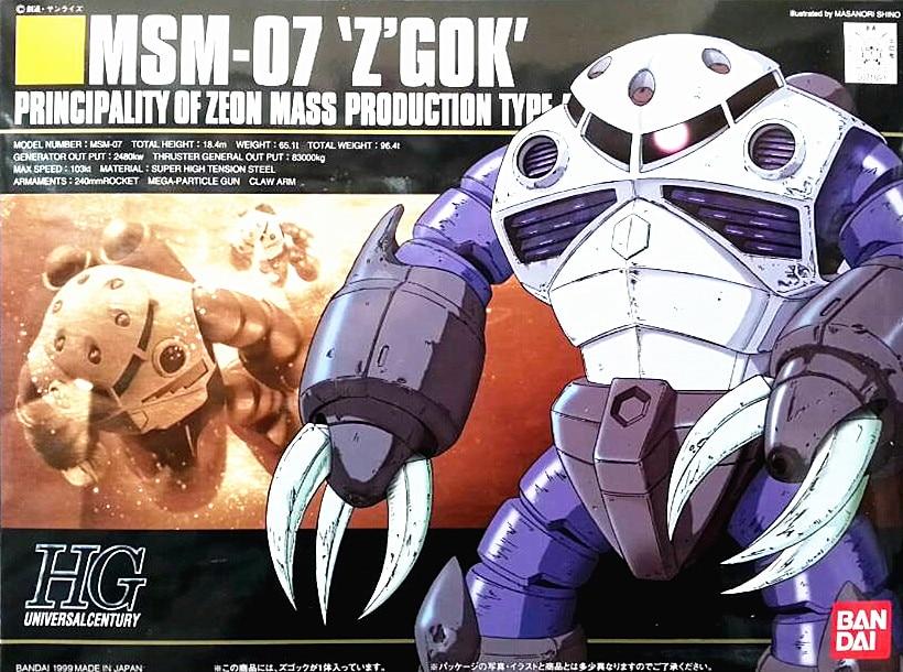 1PCS Bandai HGUC 006 1/144 MSM-07 Z`GOK Gundam Mobile Suit Assembly Model Kits Anime action figure Gunpla lbx toy ohs bandai mg 179 1 100 sengoku astray gundam mobile suit assembly model kits