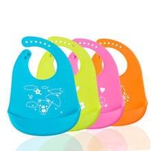 Fashion Waterproof Bibs Baby Children Silicone Stereo Feed Bib Adjustable  Crumb Catcher Washable Bebe Plastic Easy 054f5c827