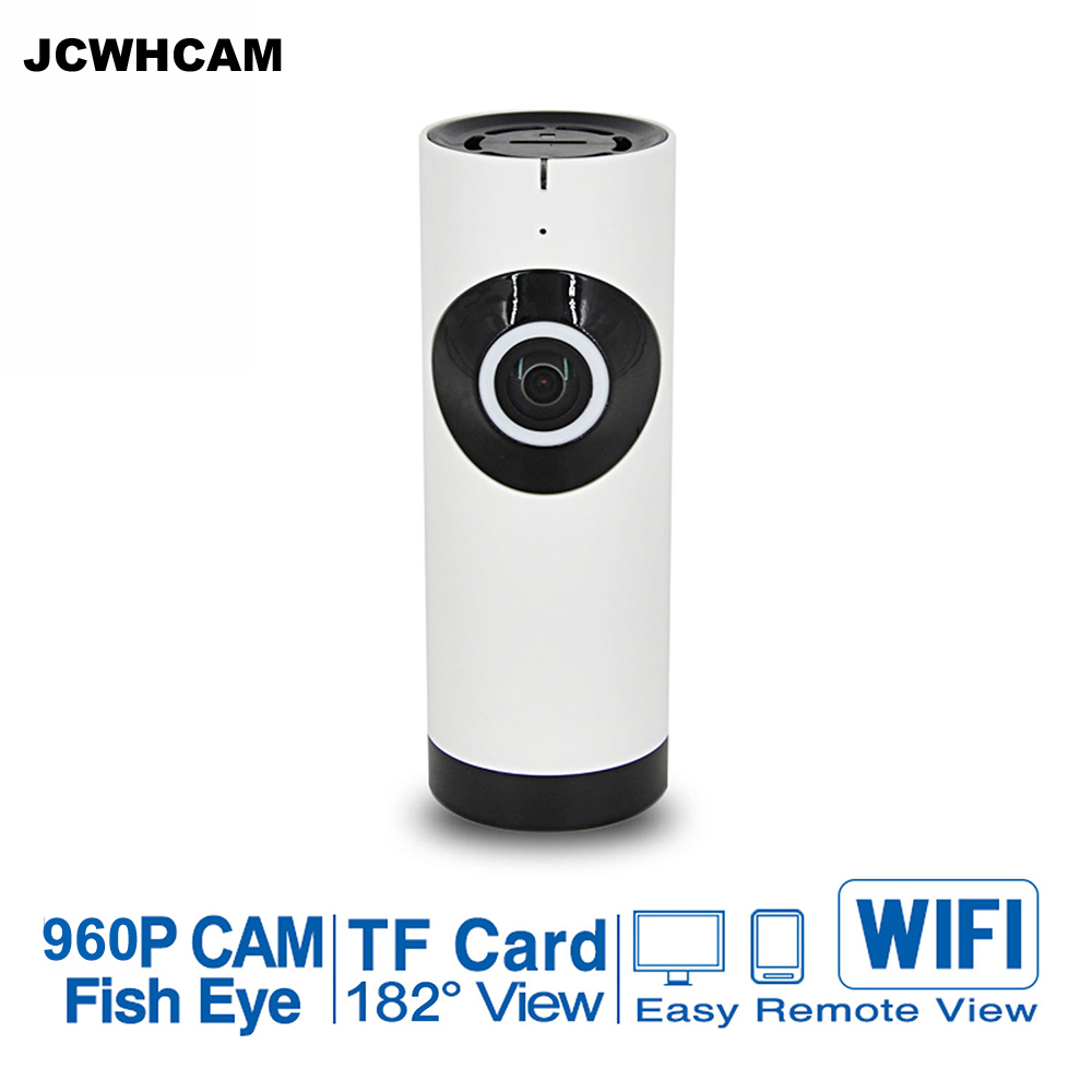 JCWHCAM 720 p 960 p Home Security WiFi IP CCTV Kamera Indoor IR Nacht Vision Monitor Fisch Auge Cam 960 p <font><b>Smartphone</b></font> Fernbedienung image