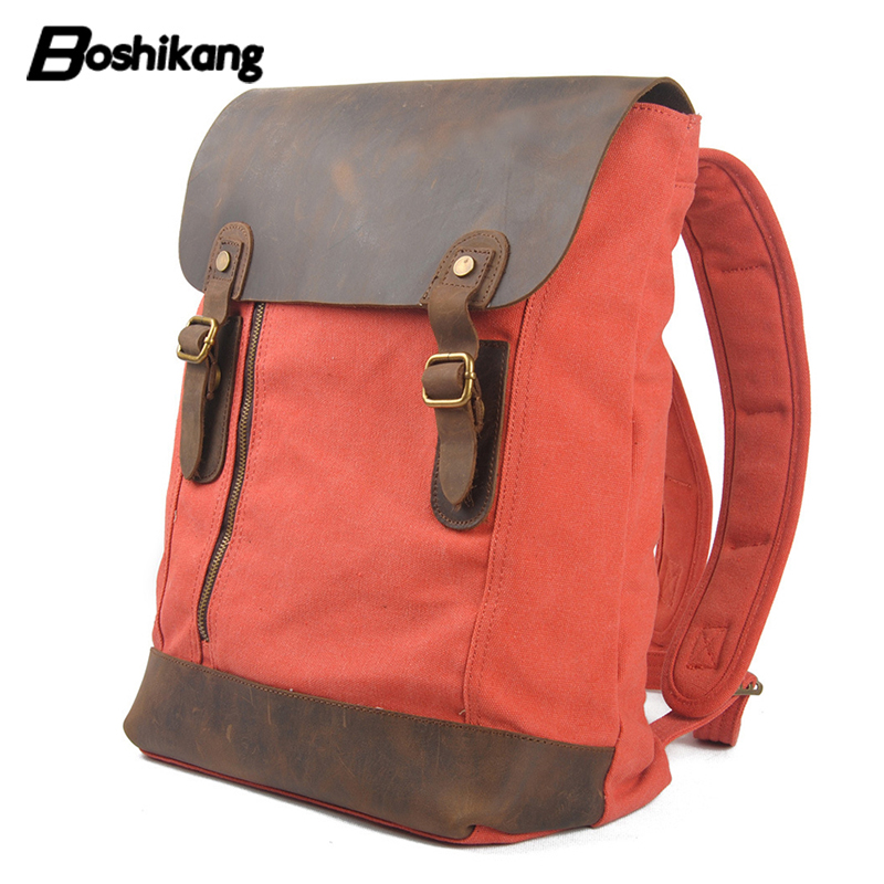 Boshikang High Quality Promotion Fashion Designer Vintage Canvas Big Size Men Travel Bags Large Capacity Luggage Backpacks