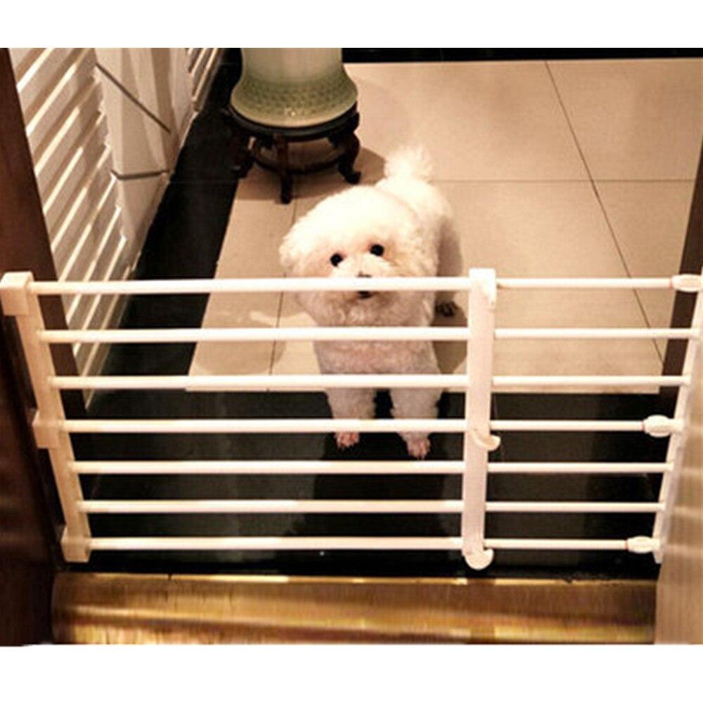 Pet chien clôture bébé porte parc pour chiens intérieur rétractable Pet isolation porte chambre plastique enfants bébé sécurité Protection outils 11