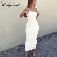 Colysmo 2 Layers Autumn Dress White Winter Maxi Long Bodycon Sexy Women Elegant Cotton Ladies Dresses Midi Vestido