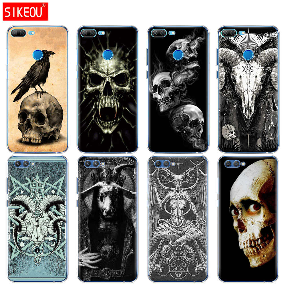Silicone Cover phone Case for Huawei Honor 10 V10 3c 4C 5c 5x 4A 6A 6C pro 6X 7X 6 7 8 9 LITE satanic scary skull
