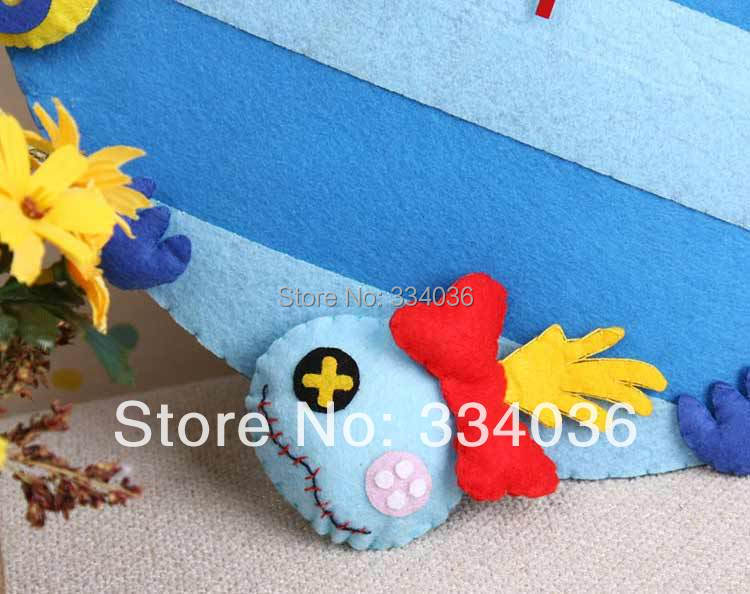 Lovely Stitch Diy Clock Handmade Fabric Home Decor Sky Blue Wall Clock  Modern Design CL 006 In Wall Clocks From Home U0026 Garden On Aliexpress.com |  Alibaba ...