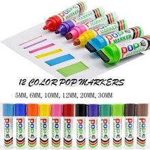 Sipa POP Marker Wasserdichte Stifte für Ad Design 6mm 12mm 30mm 20mm 10mm Highlighter Zeichnung shop Förderung Große Worte Hinweis