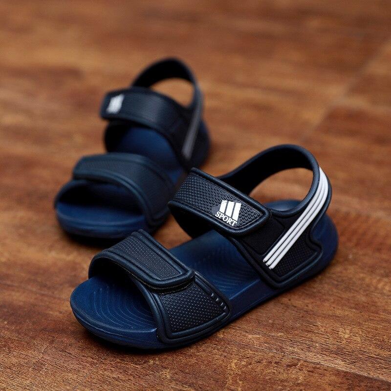 2019 été nouveau style sandales à bout ouvert bébé enfant en bas âge chaussures grand garçon garçons et filles chaussures antidérapantes sandales à fond souple