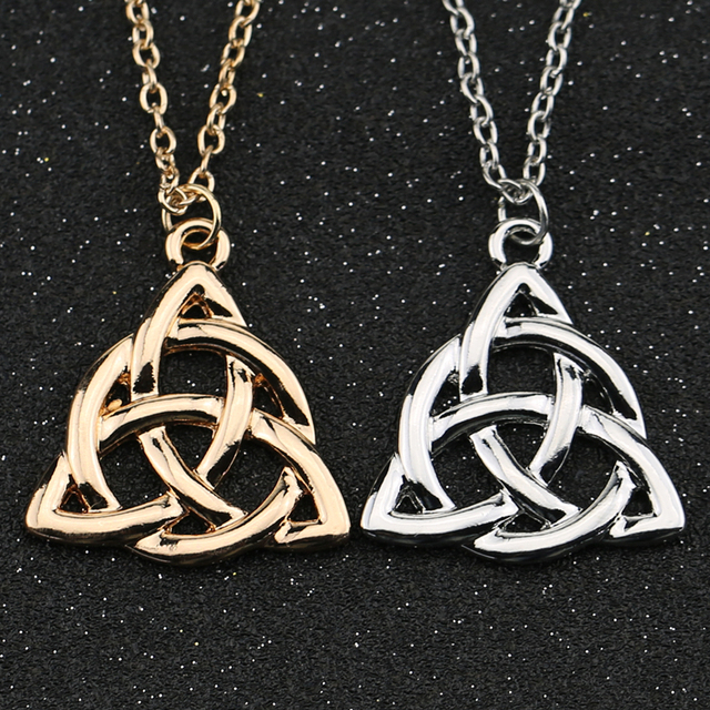 Trinity knot necklace triquetra celtic knot symbol jesus christ trinity knot necklace triquetra celtic knot symbol jesus christ silver gold color pendant fashion hot viking aloadofball Image collections